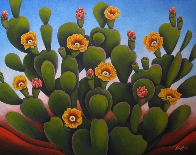 Desert Beauty - acrylic painting by Gayle Faucette Wisbon