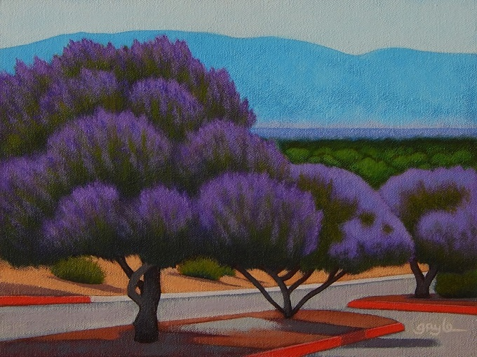 Chaste Trees - acrylic painting by Gayle Faucette Wisbon