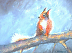 Squirrel in the Snow 8x10 pastel by Carol DeGregory