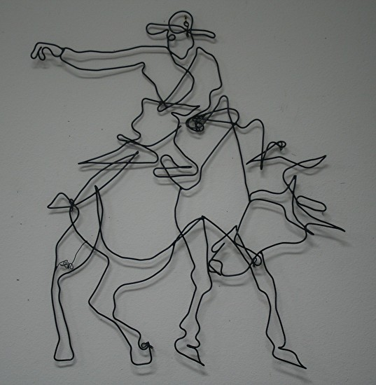 Bronco Wire Wall Art