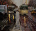 market street hustle 28x32 oil on canvas by Scott W. Prior