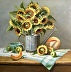 Sunflowers with Watering Can by LOIS ENGBERG