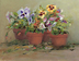 Pansies on the porch by Dorothy Boyer