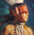 Young Maidu Dancer 1 by Frank Ordaz