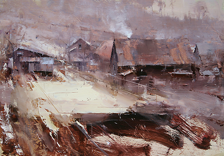 Tibor Nagy Work Zoom At The End Of The Village