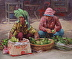 Cambodian Women at the Street Market by Patricia McGeeney