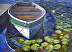 Boat with Lily Pads by Tom Dimock