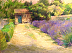 Lavender and Garden Hut, St R�my de Provence by Valerie Collymore
