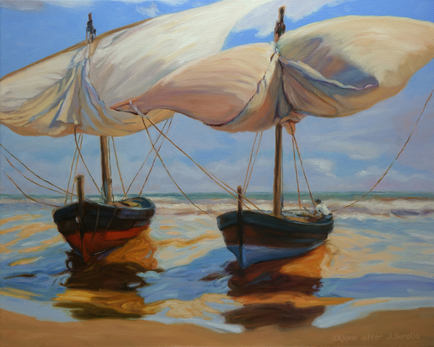 Sonia kane work zoom beached boats painted after - Galeria de arte sorolla ...