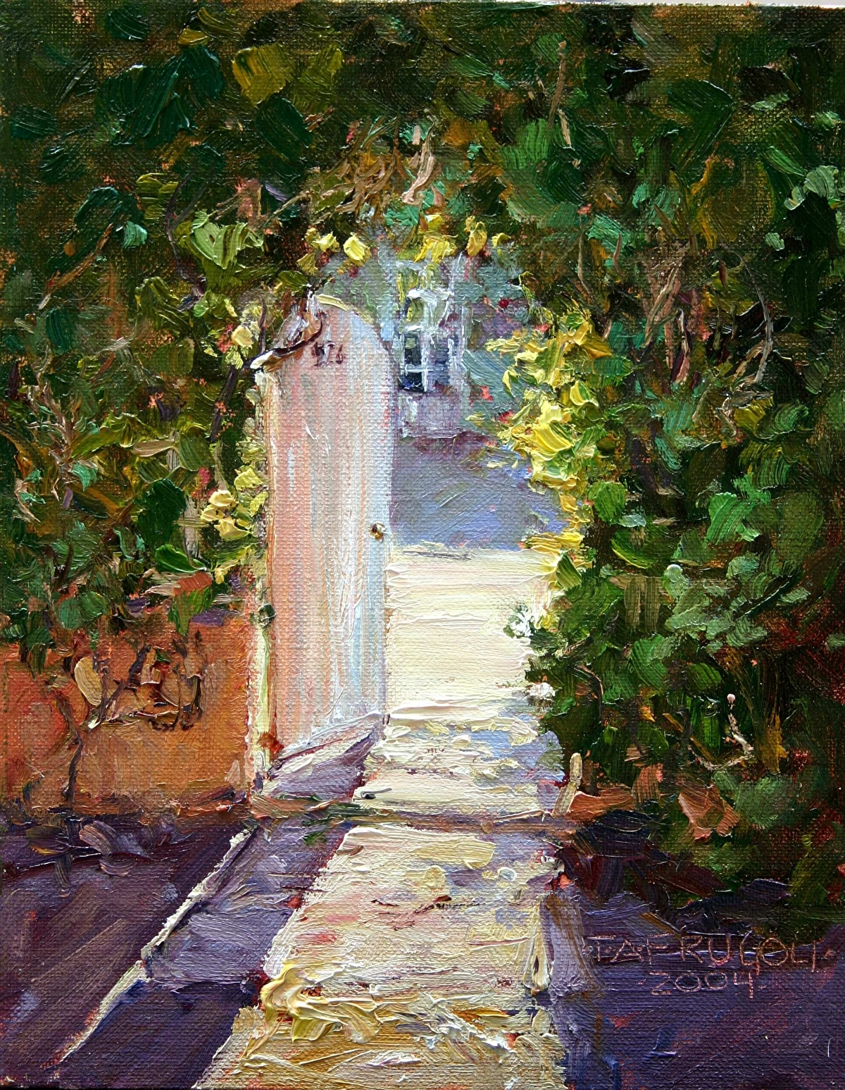 Tracey Frugoli Work Detail Sunlight Through the Garden Door