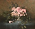 Pink Peonies in Old French Urn by Christine Hooker