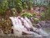 Lake Superior Waterfall by Martie Rains