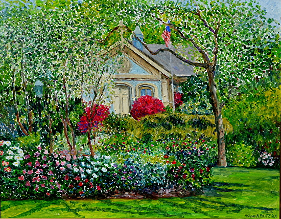 Snug Harbor Botanical Garden Grounds By Anthony Butera Oil ~ 16 X 20
