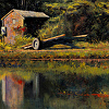 Pumphouse and Trailer Giclee'