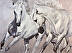 Horse Play (Andalusians) by Nancy Rynes