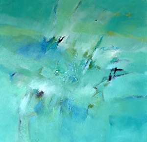 "Sea Glass by Filomena Booth Acrylic ~ 30"" x 30"""