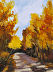 Fall Road Study by Marie Johannes