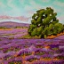 Lavender Field with Giant Oak by Mary Jane Erard