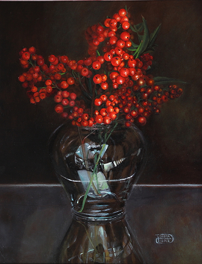 Holly Jolly - Oil,Painting My Way From 2 Inches to 2 Feet and Back Again | Debra Keirce