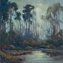 Pine Forest With Rising Moon by Mary Garrish