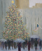 Christmas in Spite of Rain 24x20w by Connie Winters