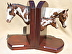 PAINT HORSE FAMILY BOOKENDS by Vel Miller