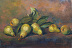 Pears and Leaves by Patricia Domanski