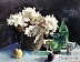Hydrangeas with Green Vases and Figs by Toni Danchik