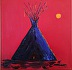 Blue Teepee by Charlie Dingman
