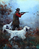 A Hunter with Two Setters by Frank Stick by  Tierney Fine Art
