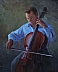 Self Portrait with Cello by Chris Rightmer