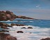 Monterey Coast ll seascape oil painting by Deborah Wolfe