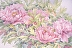 Pink Tree Peonies I by Frances Hart