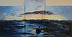 Moorings--knife painted triptych by Judith Martinez