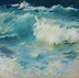 Waves 2 Archival Print on Canvas by Georgesse Gomez