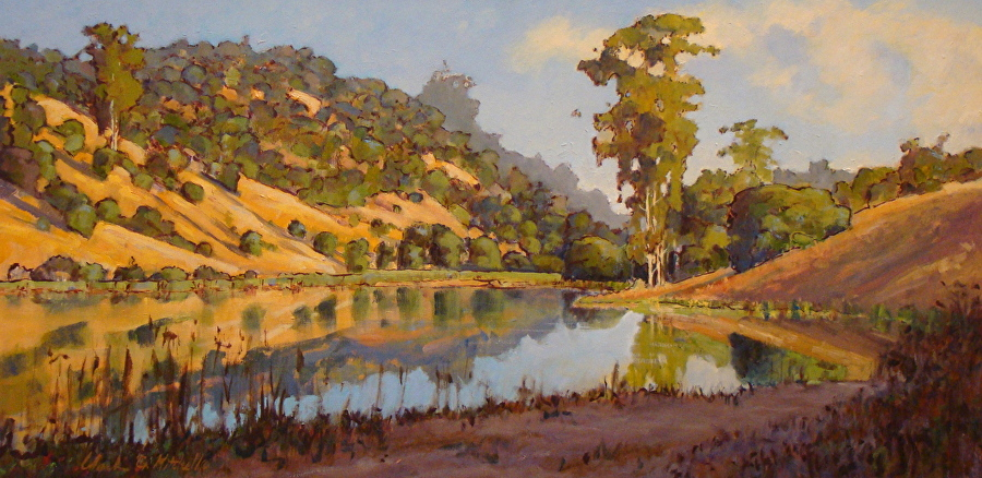 Clark Mitchell Summer Lake Oil Painting