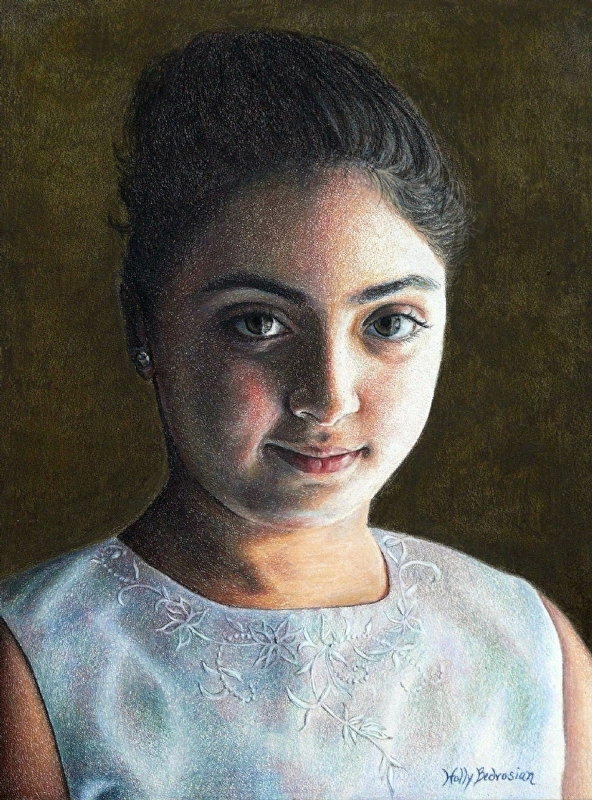 Amira by Holly Bedrosian Colored Pencil ~ 12 x 9