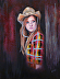 Portrait of a Cowgirl by Mary Opat