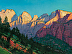 Temples of Zion 36x48 2021 by Robert Goldman