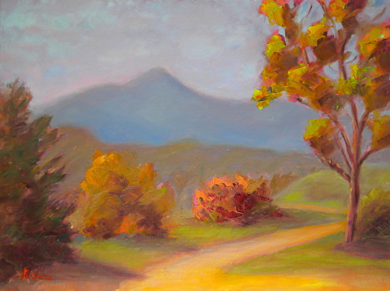 Mt Tamalpais, seen from McInnis Park - Oil