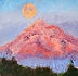 Hunter's Moon on Mt. Hood by Nancy Klos