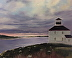 Evening at the Lighthouse by Wilda Kaiser