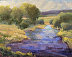 Provo River Convergence by Debra Russell