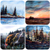 Coasters: Landscapes set of 4 by Rosemarie Armstrong