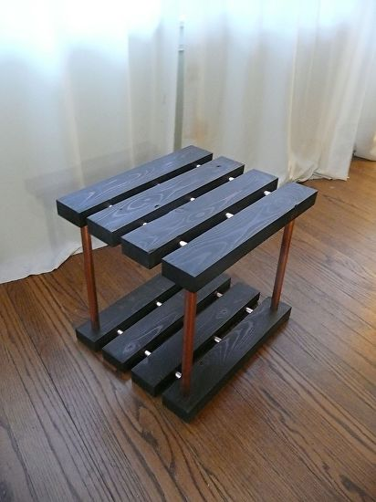 2x4 U0026 Copper Pipe End Table