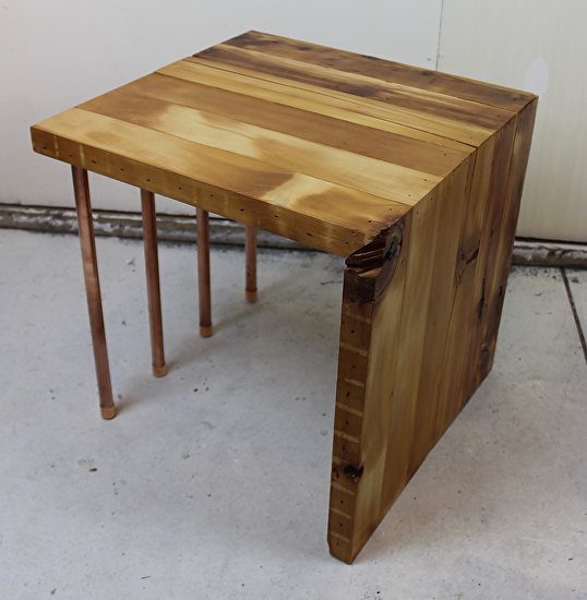 Reclaimed Wood Coffee Table Chicago: Work Zoom: Reclaimed 2x4 & Copper Pipe