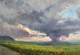 Storm Clouds Over the Fields by Patricia Huber