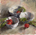 Three bowls with radishes by Vicki Guennewig