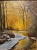 Blue Creek In Gold by Jerry Inman