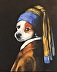 Dog with a Pearl Earring 3 by Sandy Gillig